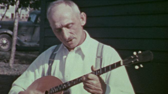 In an undated photo provided by the Library of Congress, a member of the Floriani family performs in Michigan's Upper Peninsula. Michigan was fertile ground for folk music, brought to the region by a wave of immigrants in the early 20th Century and played in the camps and factory towns where they worked. Legendary folklorist Alan Lomax discovered the music in 1938 when he visited the Midwest on his famous 10-year cross-country trek to document American folk music for the Library of Congress. A trove of his Michigan recordings is now being publicly released for the first time by the library, coinciding with the 75th anniversary of Lomax's trip. (AP Photo/Library of Congress, Alan Lomax HOPD)