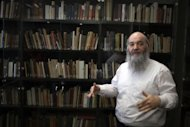 Dr. Roni Grosz in the Albert Einstein private library at Israel's Hebrew University. An Israeli court has ruled the literary estate of Max Brod, including the writings of his friend Franz Kafka, will be transferred to Israel's national library, after more than four decades in private hands