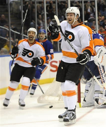 Flyers top Islanders 3-2 for 7th win in 8 games