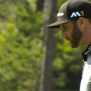 Dustin Johnson bogeys No. 13 at AT&T Pebble Beach