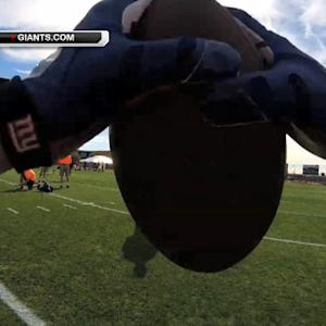 New York Giants wide receiver Odell Beckham wears GoPro to Pro Bowl practice