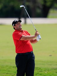 DORAL, FL - MARCH 09: Patrick Reed watches his approach shot on the second hole during the final round of the World Golf Championships-Cadillac Championship at Trump National Doral on March 9, 2014 in Doral, Florida. (Photo by Jamie Squire/Getty Images)