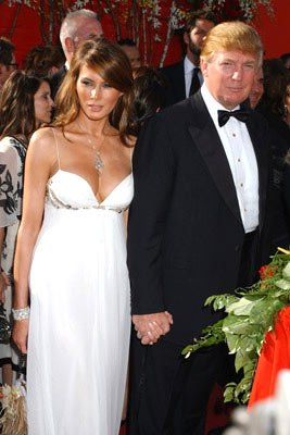 Melania Knauss and Donald Trump 56th Annual Emmy Awards - 9/19/2004 Donald Trump