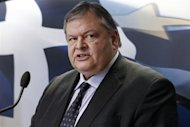 Greece's Finance Minister Evangelos Venizelos addresses reporters during a briefing in Athens January 31, 2012. REUTERS/Yiorgos Karahalis