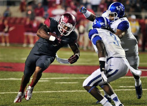 Wilson's 5 TDs leads Arkansas past Kentucky 49-7