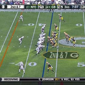 Green Bay Packers wide receiver Jordy Nelson 33-yard catch