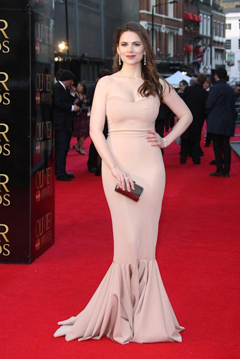 Hayley Atwell was glamorous in her floor-length gown / WENN