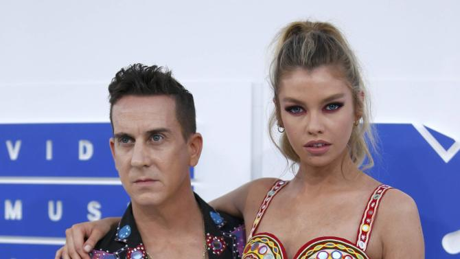 Model Maxwell and fashion designer Scott arrive at the 2016 MTV Video Music Awards in New York