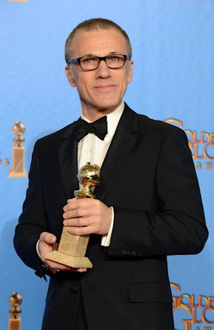 Christoph Waltz poses with the award for best performance by an actor in a supporting role in a motion picture for Django Unchained backstage at the 70th Annual Golden Globe Awards at the Beverly Hilton Hotel on Sunday Jan. 13, 2013, in Beverly Hills, Calif. (Photo by Jordan Strauss/Invision/AP)