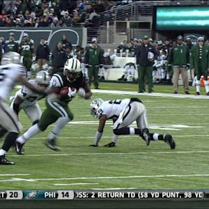 New York Jets running back Chris Ivory 15-yard touchdown run