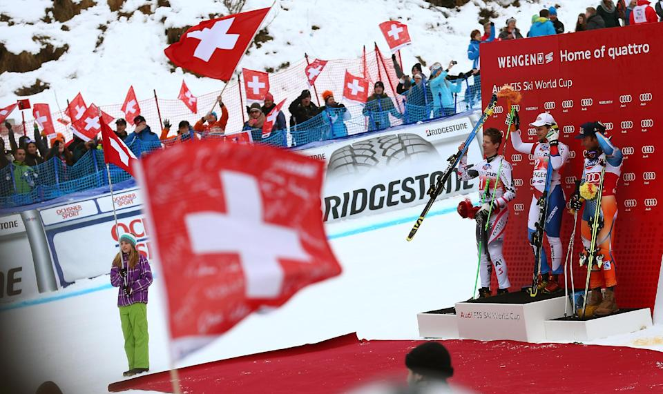 Kueng wins Wengen downhill for home Swiss fans