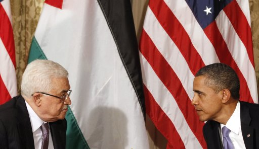 U.S. President Barack Obama meets Palestinian President Mahmoud Abbas in New York