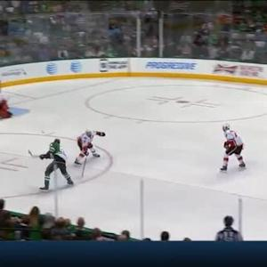 Jonas Hiller Save on Tyler Seguin (07:49/1st)