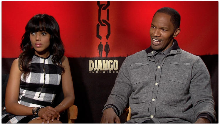 WATCH: Jamie Foxx & Kerry Washington Tease 'Django Unchained' Sequel