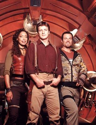 "Gina Torres, Nathan Fillion and Adam Baldwin Fox's ""Firefly"" Firefly"
