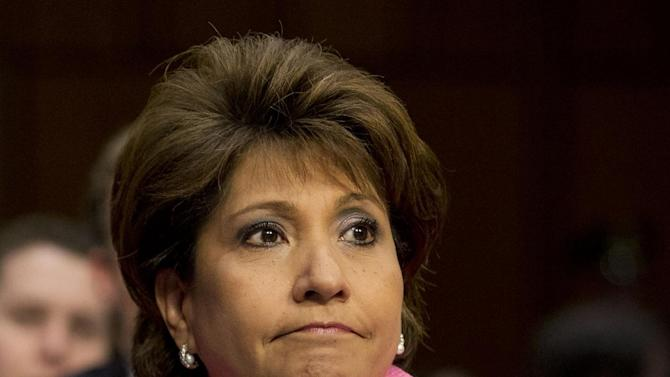 FILE - This April 22, 2013 file photo shows Janet Murguia, president and CEO, National Council of La Raza, on Capitol Hill in Washington. Minorities _ Hispanics, women, blacks, Asians _ stand as the majority among House Democrats, giving them considerable clout in pushing for the most massive rewrite of the nation's immigration laws in a generation. As the immigration fight shifted to the House, rank-and-file Democrats delivered a simple message to their party leader on Friday: If Republicans who call the shots make good on their promise to bring up single-issue legislation, we'll only go along if it gets us to negotiations with the Senate. (AP Photo/Jacquelyn Martin, File)