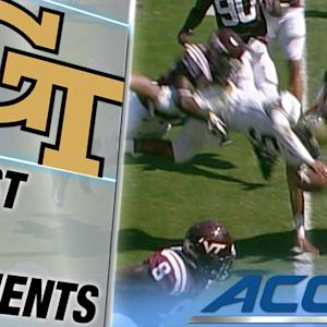 Georgia Tech's Justin Thomas Soars Like Superman for Touchdown | ACC Must See Moment
