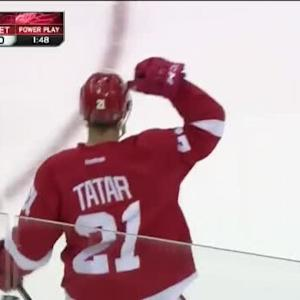 Tomas Tatar Goal on Chad Johnson (05:29/1st)