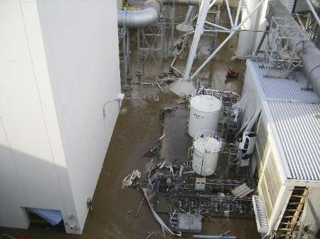 High water levels are seen at Tokyo Electric Power Co.'s Fukushima Daiichi nuclear power plant after a tsunami triggered by an earthquake hit the area