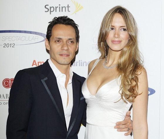 Marc Anthony and Shannon De Lima arrive at 27th Anniversary of Sports Spectacular held at the Hyatt Regency Century Plaza on May 20, 2012 in Century City, Calif.  -- Getty Images