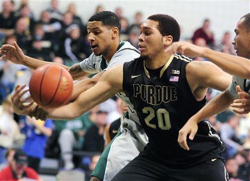 Eastern Michigan holds on to shock Purdue 47-44