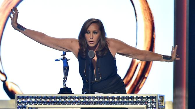 Designer Donna Karan receives The Founders Award at the 2016 CFDA Fashion Awards on June 6, 2016 in New York City