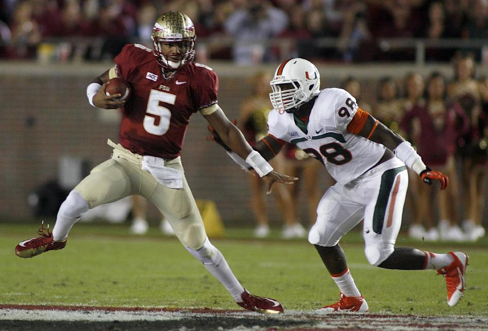 No. 3 Florida State defeats No. 7 Miami 41-14