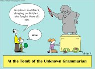 Grammar Hammer: The Tenets of Tenants image grammarcartoon blogSpan
