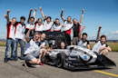 Swiss college students set a new world record for the fastest electric car