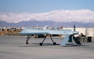 &lt;p&gt;A US Predator unmanned drone armed with a missile sets off from its hangar at Bagram air base in Afghanistan in 2009. Two US drone strikes on Sunday killed at least six people in a restive Pakistani tribal region near the Afghan border, security officials said.&lt;/p&gt;