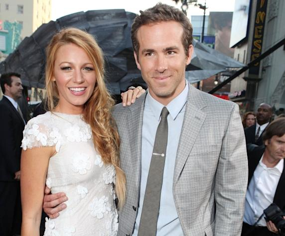 Blake Lively and Ryan Reynolds at Warner Bros. premiere of 'Green Lantern' at Grauman's Chinese Theatre in Hollywood, Calif. on June 15, 2011 -- Getty Images