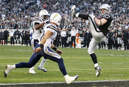 Chargers end Raiders playoff hopes with 38-26 win