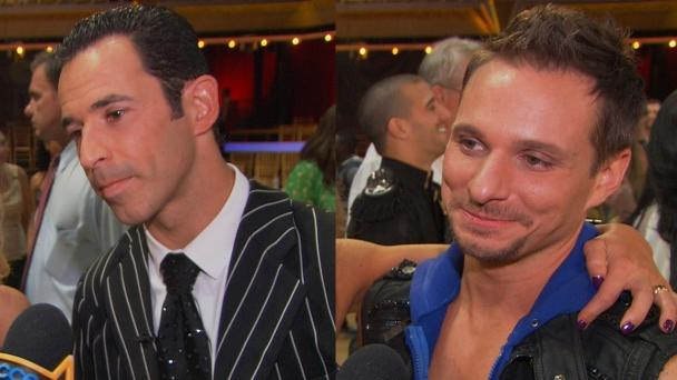 Helio Castroneves and Drew Lachey -- Access Hollywood