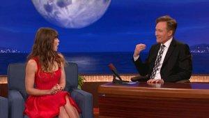 Jessica Biel Gets Very Flirty With Conan O'Brien (Video)