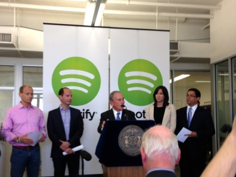 mayor bloomberg at spotify