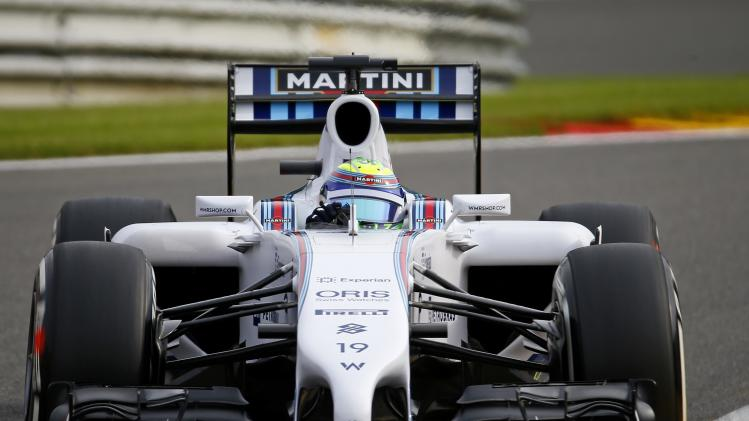 Williams Mercedes Formula One driver Massa of Brazil drives during the first practice session at the Belgian F1 Grand Prix in Spa-Francorchamps