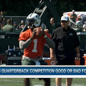 Is the quarterback competition good or bad for the New York Jets?