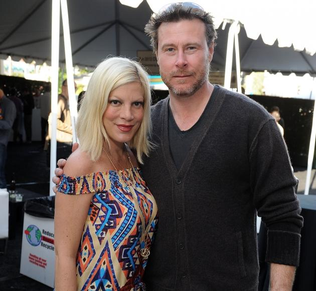 Tori Spelling and Dean McDermott attend John Varvatos 9th Annual Stuart House Benefit presented by Chrysler held at John Varvatos Los Angeles in West Hollywood, Calif. on March 11, 2012 -- Getty Images