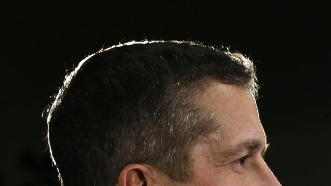 Baltimore Ravens head coach John Harbaugh speaks at an NFL Super Bowl XLVII football news conference on Monday, Jan. 28, 2013, in New Orleans. The Ravens face the San Francisco 49ers in Super Bowl XLVII on Sunday, Feb. 3. (AP Photo/Patrick Semansky)