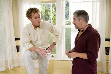 John C. McGinley and director Steve Carr on the set of Sony Pictures' Are We Done Yet?