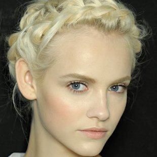 Valentino SS12 Backstage: Halo Braid Hair Trend