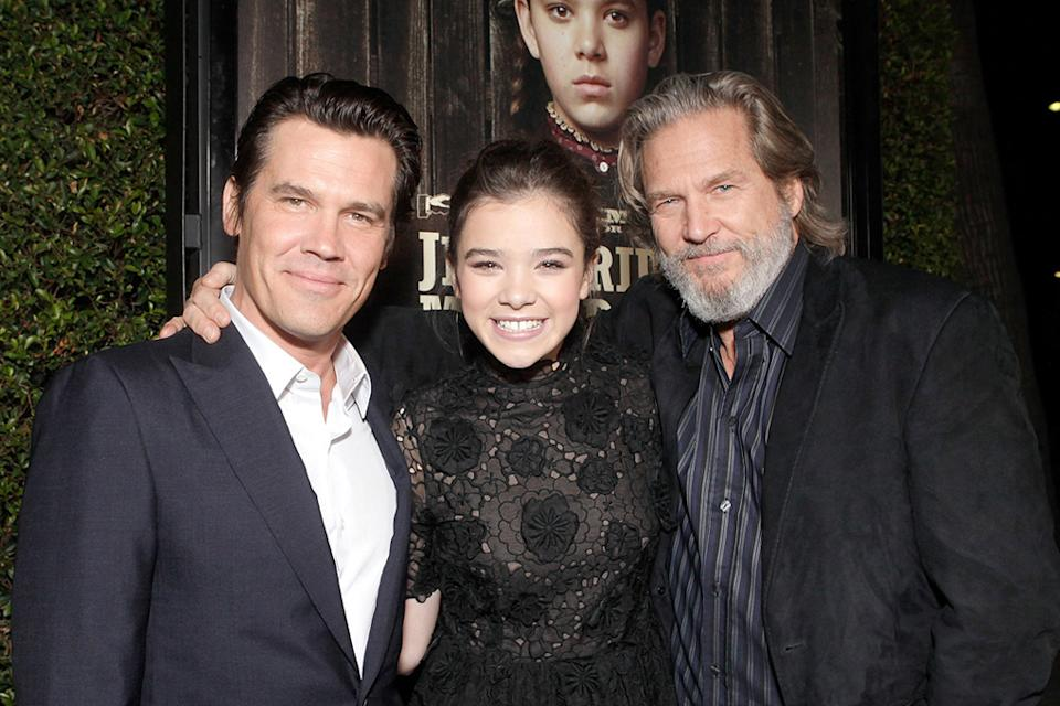 True Grit 2010 LA Screening Josh Brolin Hailee Steinfeld Jeff Bridges