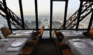 "View taken December 21, 2007 of the restaurant ""Jules Vernes"" located at the 2nd floor of the Eiffel tower in Paris"