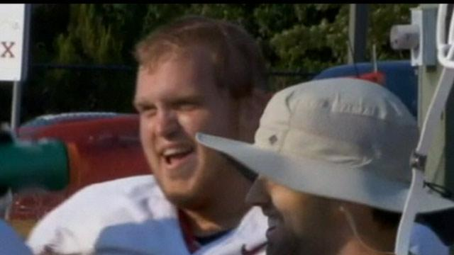 Okla. Football Player Tackles Cancer