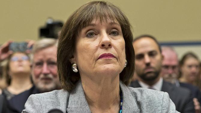 Lois Lerner listens on Capitol Hill in Washington