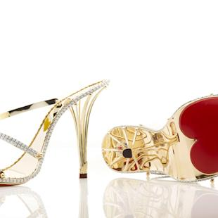 Valentine's Day most expensive gifts: These solid gold and diamond shoes cost £140k ©Caters