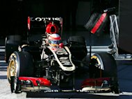 Grosjean leads the way on Day Two