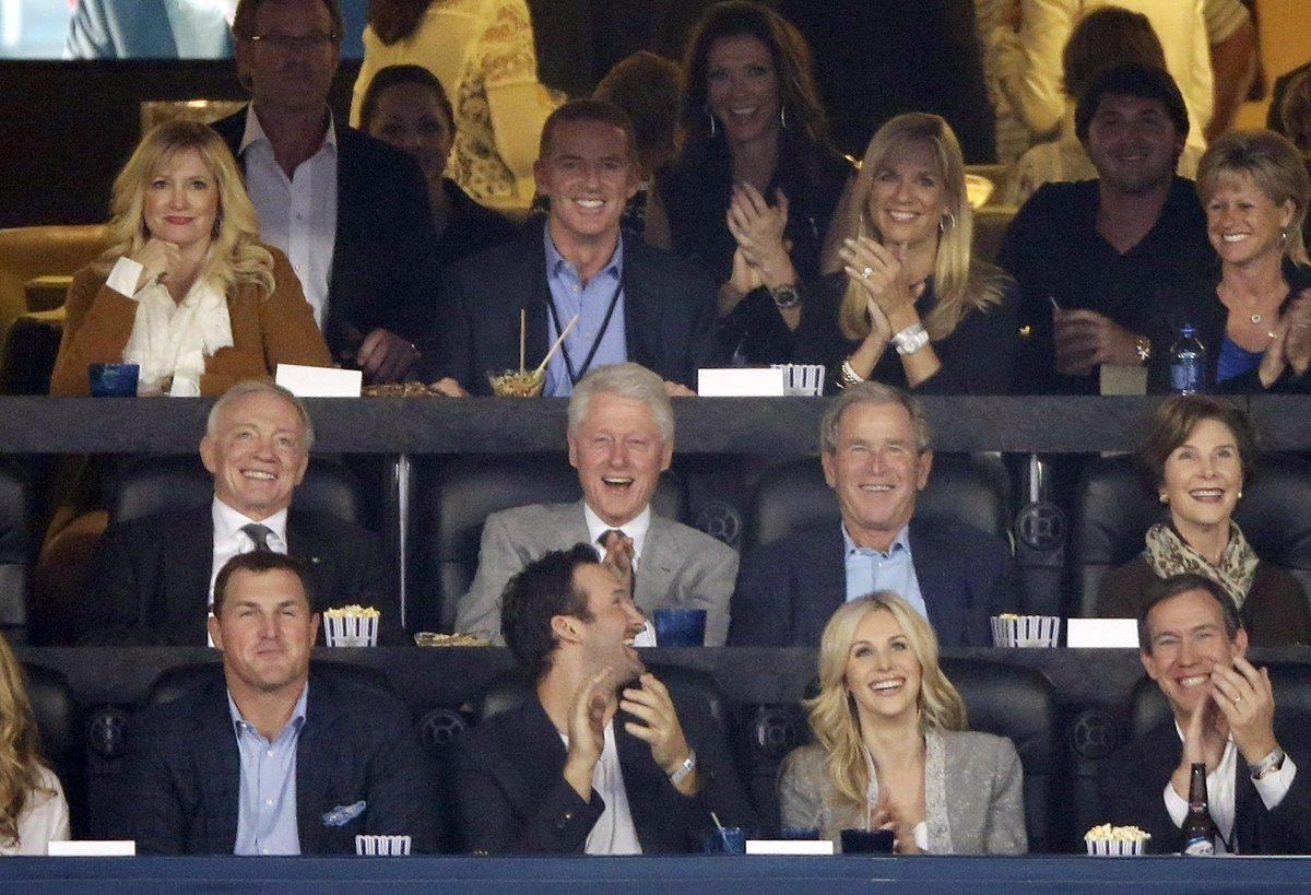 jerry jones cowboys bush texas