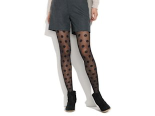 ... polka dots add a dose of playfulness to your usual black nylons.