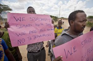 Kenyan Muslims demonstrate against Thursday's attack …